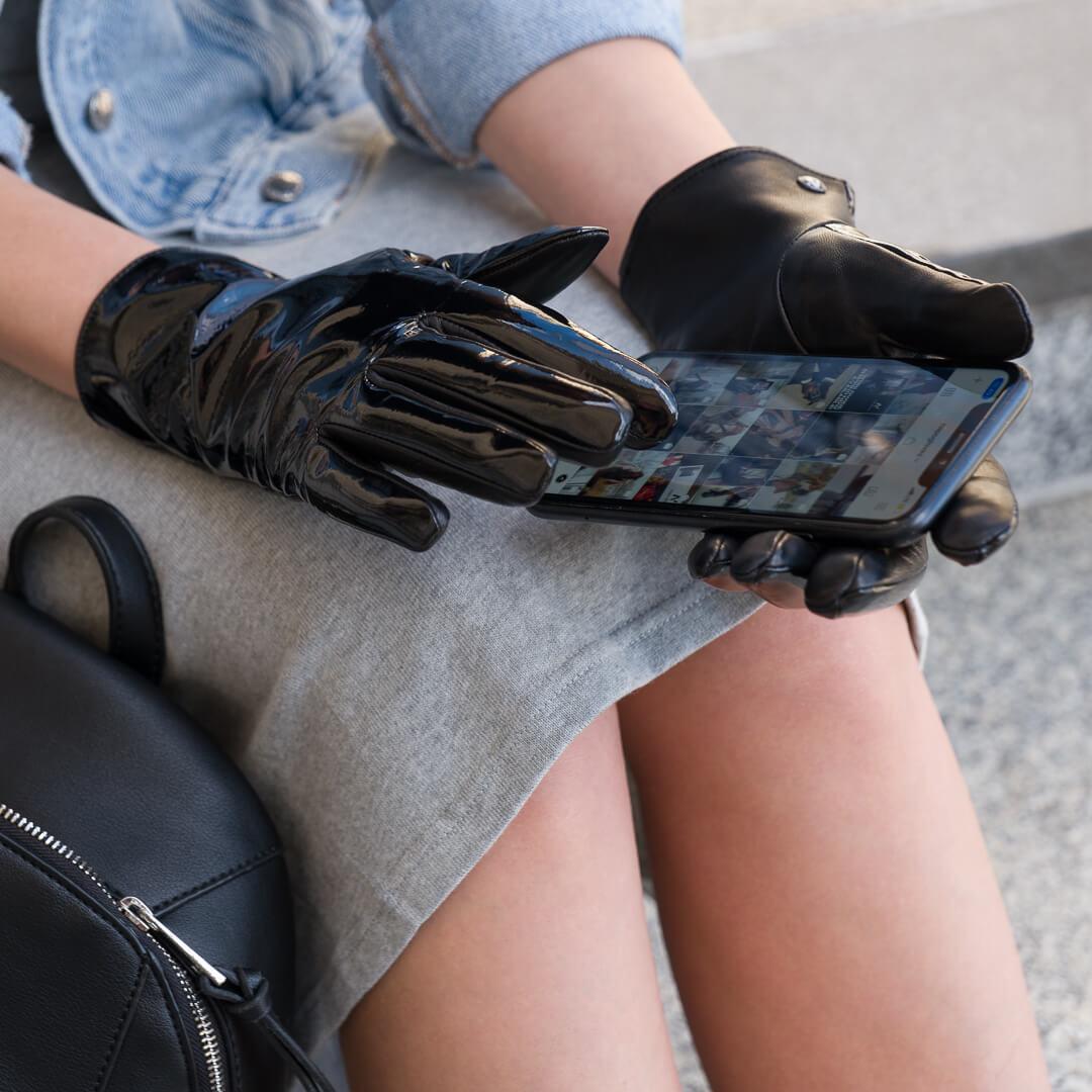 Rękawiczki z połyskiem dla kobiet
