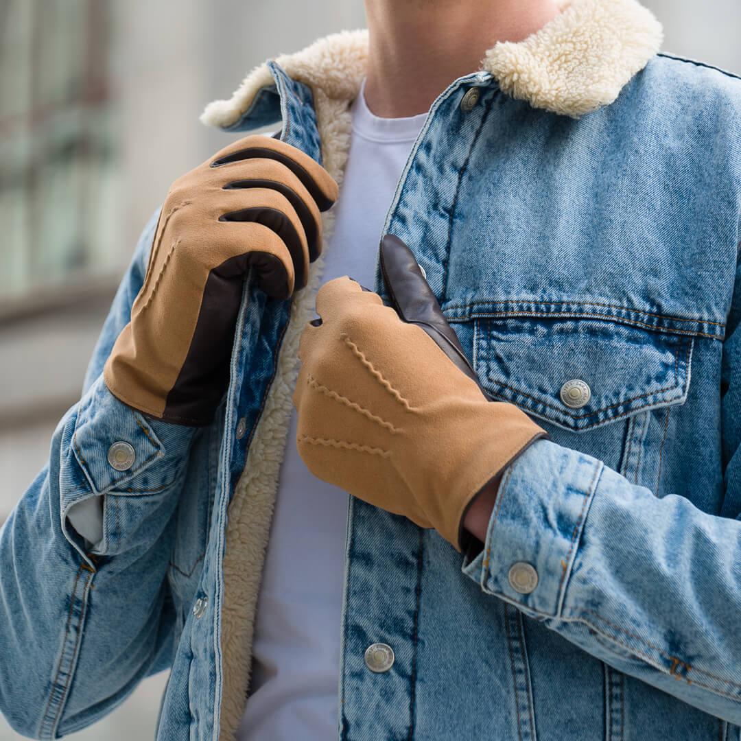 Te rękawiczki wyglądają świetnie w połączeniu z dżinsową kurtką