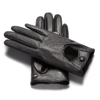 Czarne rękawiczki damskie napoFEMME ze skóry