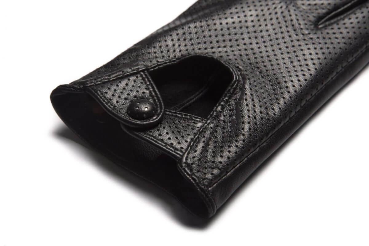 Rękawiczki samochodowe damskie czarne