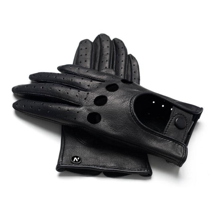 Rękawiczki skórzane napoMODO czarne