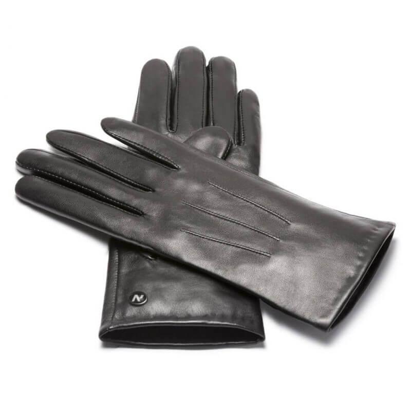 Czarne rękawiczki napoCLASSIC ze skóry