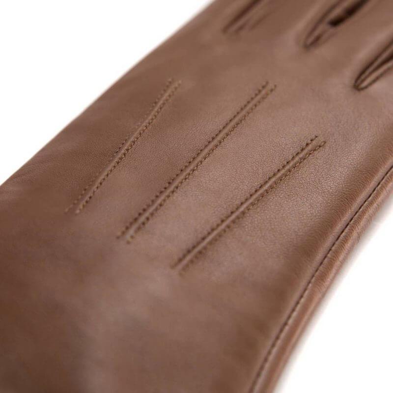 Brązowe rękawiczki napoCLASSIC ze skóry