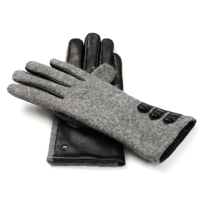 Skórzane rękawiczki na zimę i jesień napoFELT