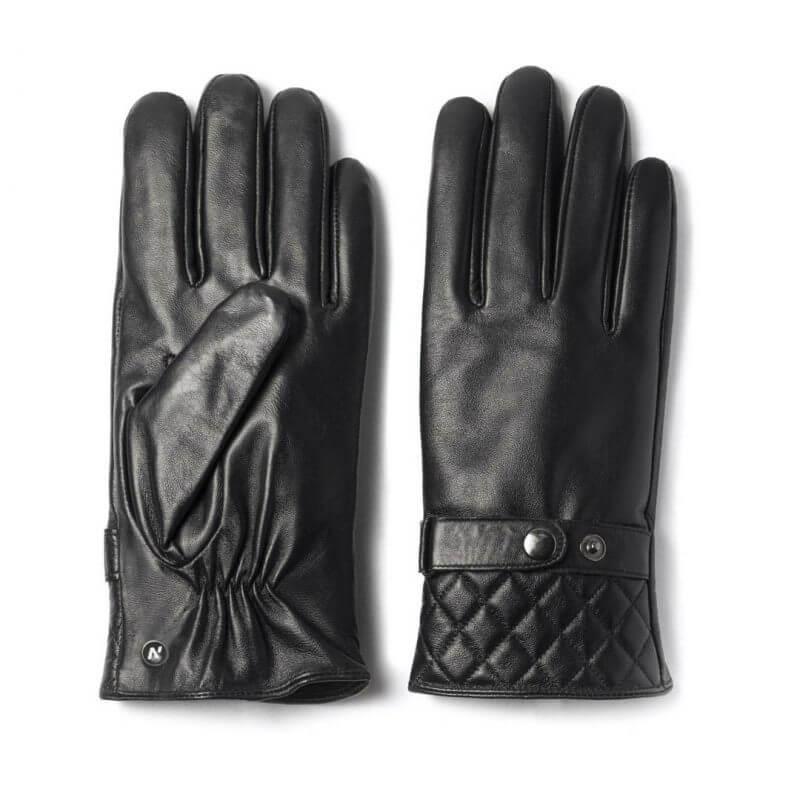 Rękawiczki ze skóry napoMODERN - czarne