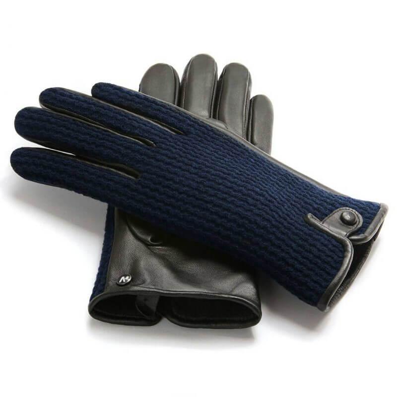 Rękawiczki na zimę, ocieplane, skórzane napoWOOL