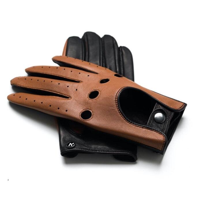 Rękawiczka napoDRIVE brązowa skóra
