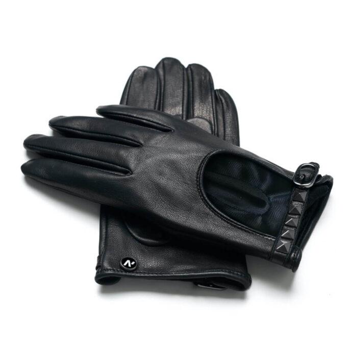 Rękawiczka napoROCK z czarnej skóry