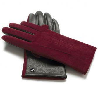 Damskie rękawiczki zamszowe