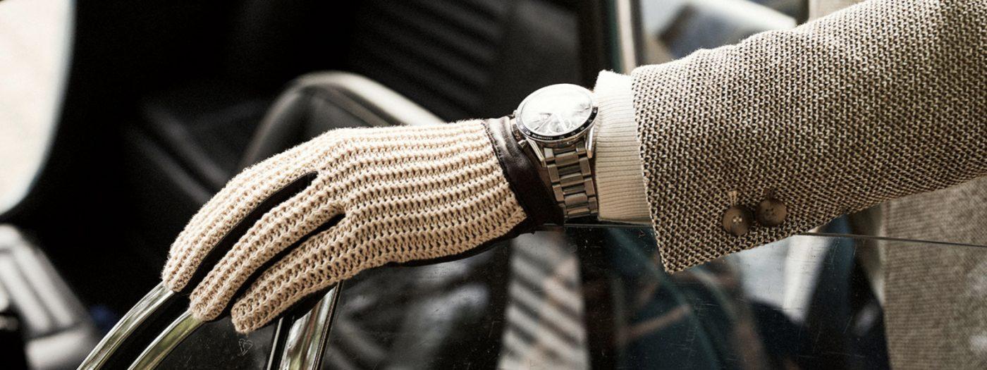 Rękawiczki męskie dotykowe skórzane samochodowe