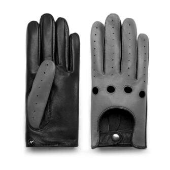 Szare rękawiczki samochodowe dla mężczyzn