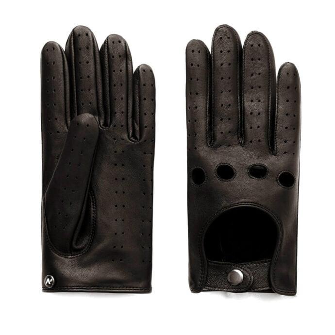 Brązowe klasyczne rękawiczki samochodowe