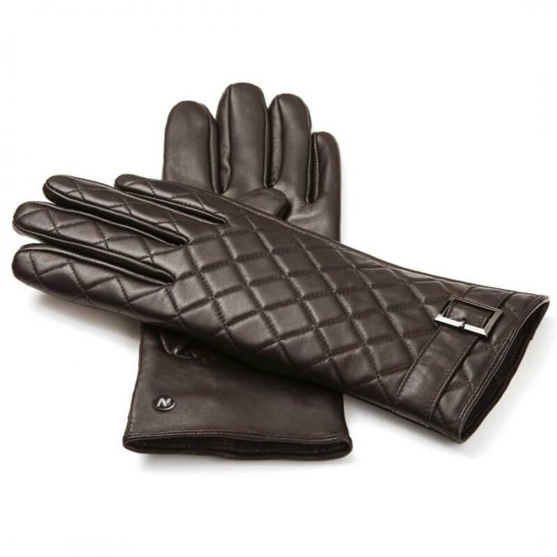 Damskie pikowane rękawiczki do smartfona