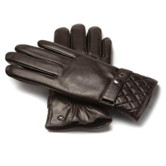Męskie klasyczne rękawiczki skórzane dotykowe