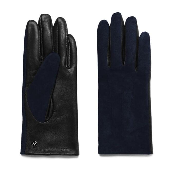 Zamszowe rękawiczki skórzane do smartfona