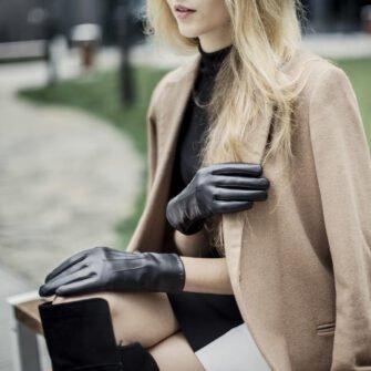 Damskie rękawiczki skórzane klasyczne