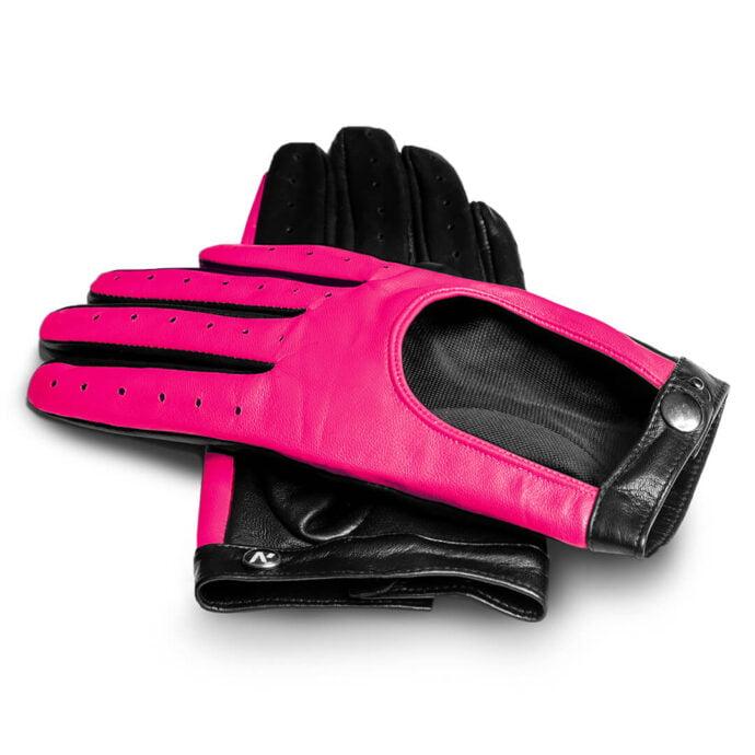 Różowe neonowe rękawiczki