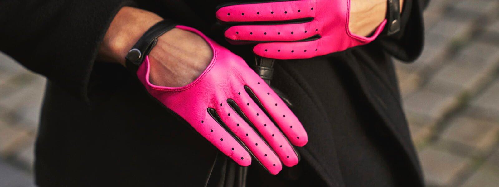 Neonowe damskie rękawiczki