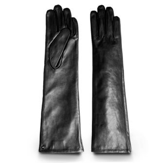 Długie damskie skórzane rękawiczki