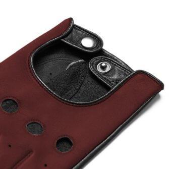 Bordowe rękawiczki samochodowe touschreen