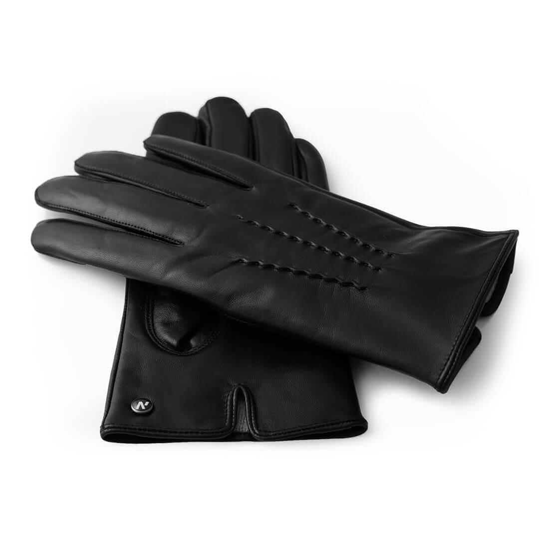 Klasyczne zimowe rękawiczki z kaszmirową podszewką