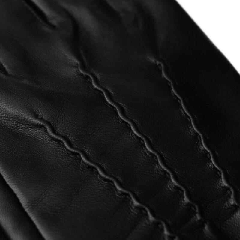 Czarne rękawiczki męskie