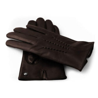 Męskie rękawiczki wykonane z naturalnej jagnięcej skóry