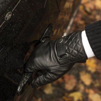 Eleganckie czarne rękawiczki męskie