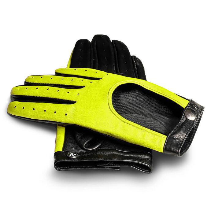 Żółte neonowe rękawiczki