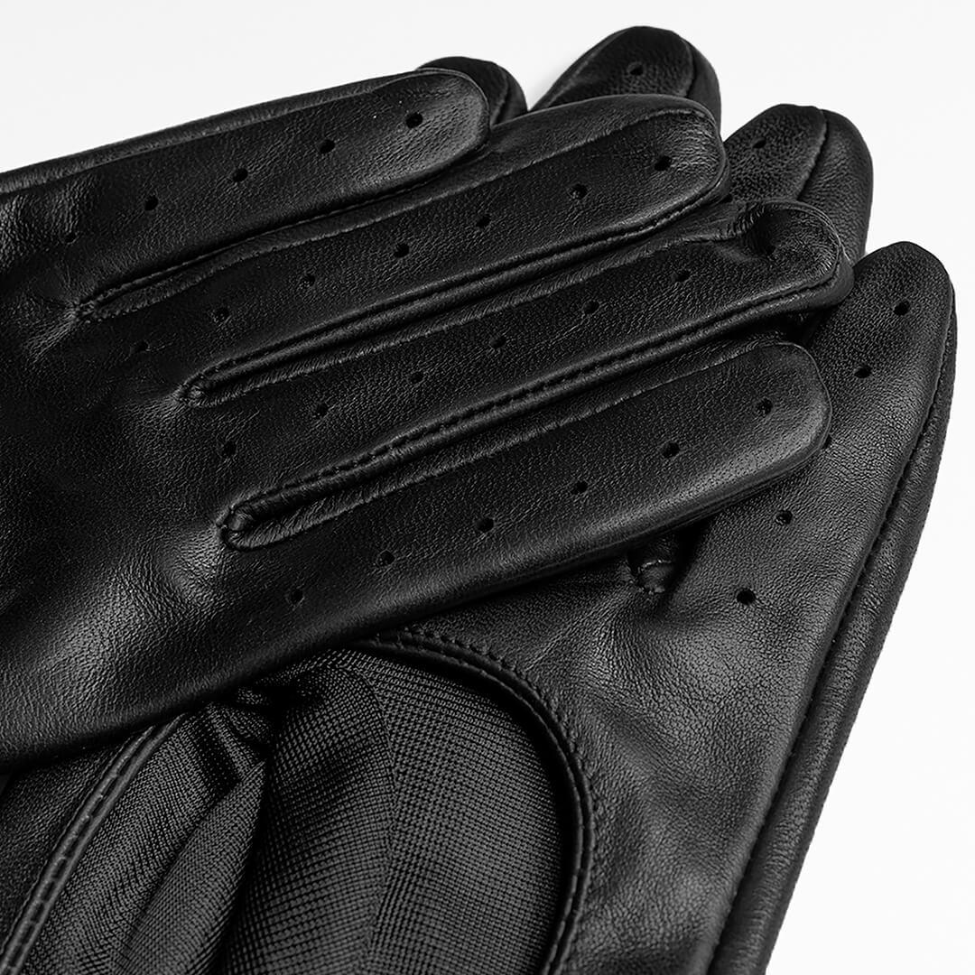 Czarne rękawiczki całuski dla kobiet