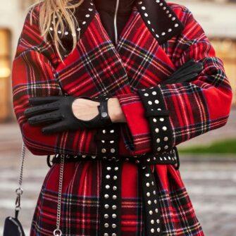 Rękawiczki całuski damskie czarne