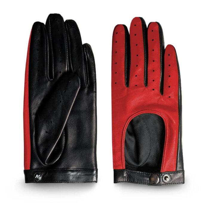 Damskie czerwone rękawiczki dotykowe