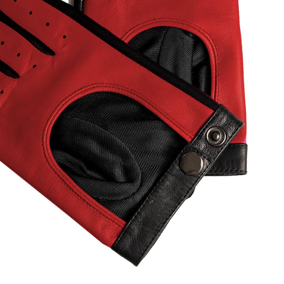 Rękawiczki skórzane w kolorze czerwonym