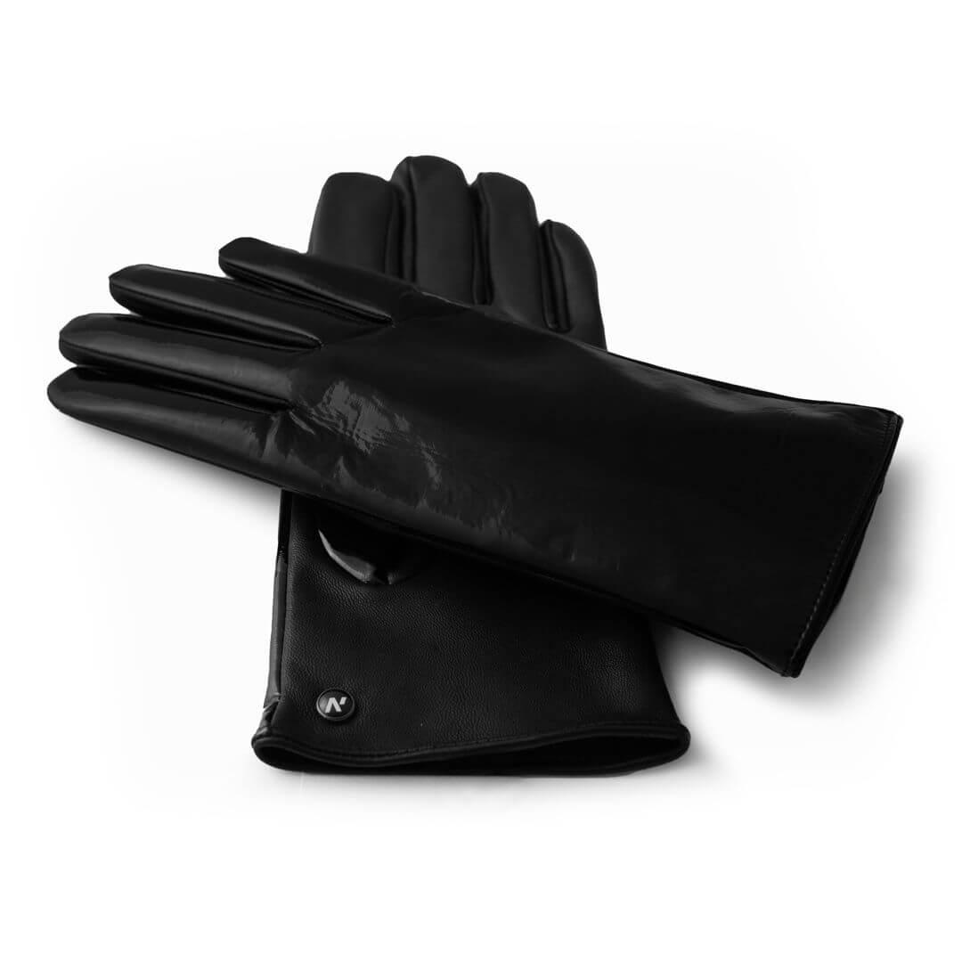 Czarne świecące rękawiczki