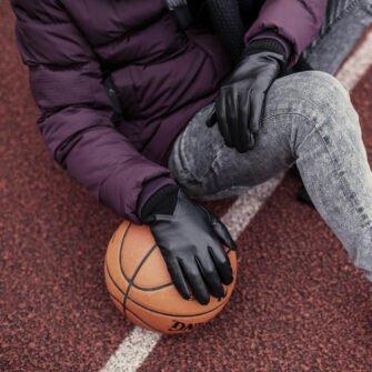 Męskie rękawiczki czarne sportowe