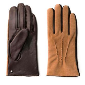 Męskie jasnobrązowe rękawiczki