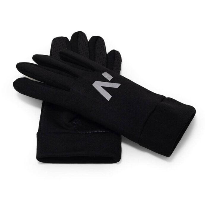 Męskie, dotykowe rękawiczki sportowe pokryte antypoślizgową warstwą