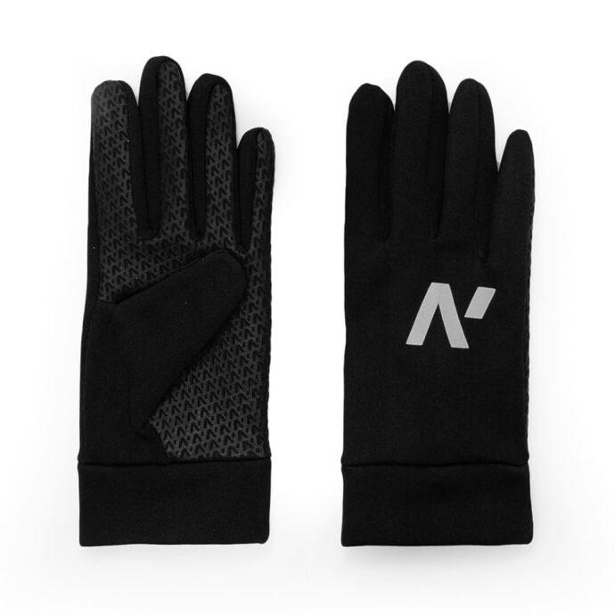 Męskie, dotykowe rękawiczki sportowe z odblaskowym logo