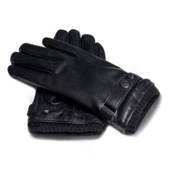 Męskie rękawiczki ze skóry ekologicznej